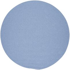 Handmade Blue Indoor/Outdoor Area Rug Rug Size: Round 6'