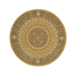 Kernville Hand-Woven Gold Area Rug Rug Size: Round 8'