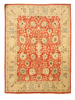Mathabhanga Hand-Knotted Red Area Rug
