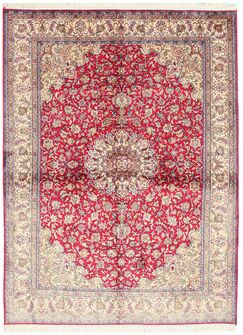 Palampur Hand-Knotted Beige/Red Area Rug