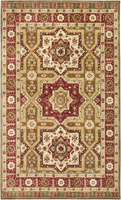 Venkatagiri Hand-Tufted Brown Area Rug Rug Size: Round 8'