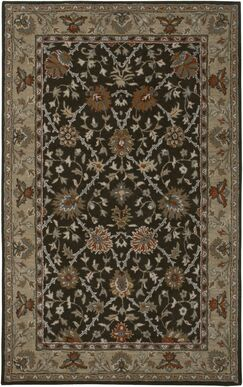 Libreville Hand-Tufted Brown/Beige Area Rug Rug Size: Round 8'