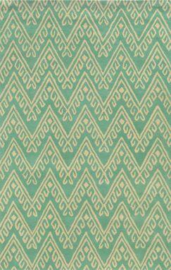 Belize Hand-Tufted Teal Area Rug Rug Size: Rectangle 5' x 8'