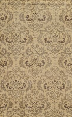 Almeria Hand-Knotted Ivory/Grey Area Rug Rug Size: Rectangle 9' x 12'