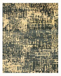 Hand Knotted Blue Area Rug Rug Size: 8' x 10'