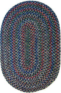 Rehli Blue Indoor/Outdoor Area Rug Rug Size: Oval 10' x 13'