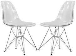 Alethia Dining Chair Color: Clear/Chrome