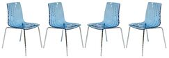 Rachael Stacking Patio Dining Chair Finish: Transparent Blue