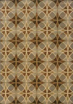 Harper Blue/Beige Area Rug Rug Size: Rectangle 5'3