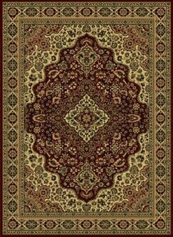 Safira Burgundy/Brown Area Rug Rug Size: 7'9