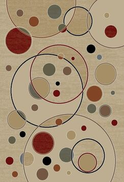 Jewel Balloons Ivory Contemporary Rug Rug Size: Rectangle 5'3