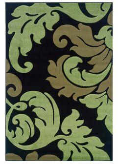 Black/Green Area Rug Rug Size: Rectangle 8' x 10'3