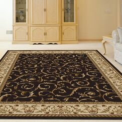 Weisgerber Brown Area Rug Rug Size: Rectangle 5'5