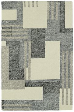 Hand-Tufted Gray/Beige Area Rug Rug Size: Rectangle 8' x 10'