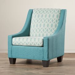 Blanch Accent Armchair Upholstery: Teal