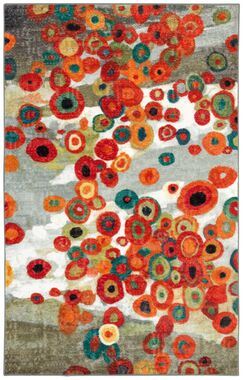Adaline Tossed Floral Multi Printed Area Rug Rug Size: Rectangle 6' x 9'