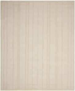 Freehand Stripe Hand-Loomed Mossy Rock Area Rug Rug Size: Round 8' x 8'