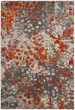 Annabel Gray/Orange Area Rug Rug Size: Rectangle 8' x 10'