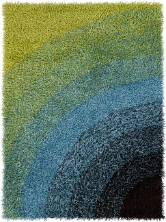 Milstead Green/Blue Area Rug Rug Size: 5' x 7'