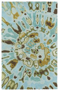 Virginis Teal Area Rug Rug Size: Rectangle 5' x 7'9