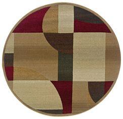Albury Tan/Brown Area Rug Rug Size: Round 6'