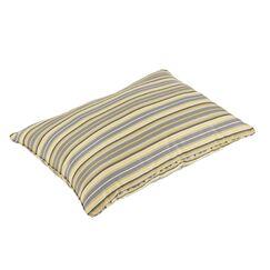Duke Vintage Stripe Piped Indoor/Outdoor Sunbrella Floor Pillow