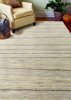 Kelson Hand Tufted Wool Taupe Area Rug Rug Size: 5'6