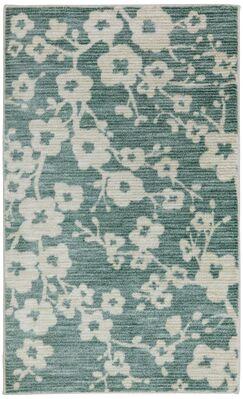 Stokes Burbank Blossom Teal Area Rug Rug Size: Rectangle 7'6