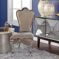 Kamala Stainless Steel Accent Chair
