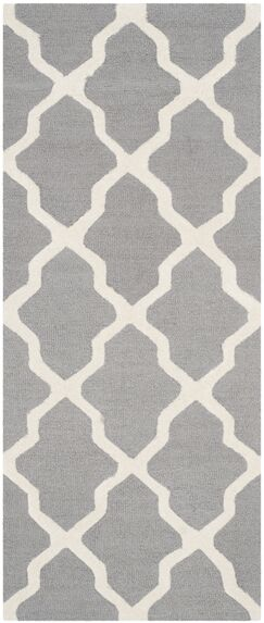 Sugar Pine Hand-Tufted Gray Area Rug Rug Size: Runner 2'6