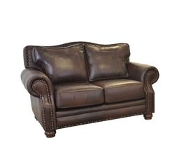 Westford Leather Loveseat Upholstery: Brompton Brown
