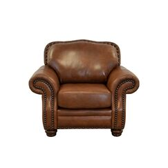 Parker Genuine Top Grain Leather Club Chair Upholstery: Burnham Vanilla