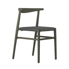 Joi Side Chair Upholstery Color: Antharacite, Finish: Dark Brown