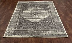 Channel Cream/Brown Area Rug Rug Size: 6'7 x 9'6