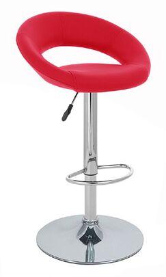 Rho Adjustable Height Swivel Bar Stool Upholstery: Cherry Red