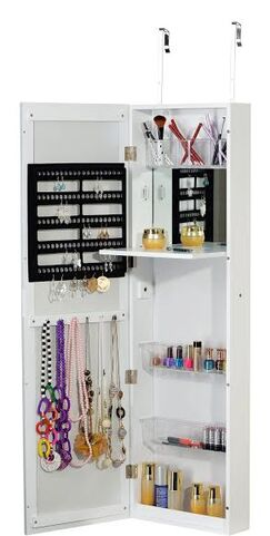 Over the Door Jewelry Armoire with Mirror
