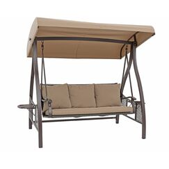 Swinging Polyester Hammock with Stand