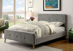 Lanell Upholstered Platform Bed Size: Twin, Color: Gray