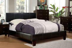 Upholstered Platform Bed Size: Twin, Color: Espresso