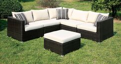 Heidi Sectional with Cushions Finish: Ivory