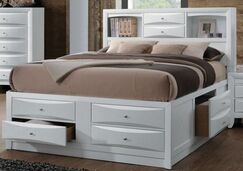 Cleary Storage Platform Bed Color: White, Size: Full