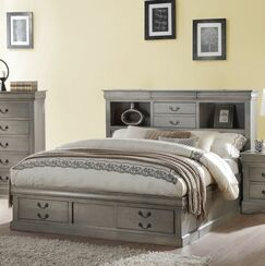 Covertt Platform Bed with Storage Size: Queen, Color: Antique Gray