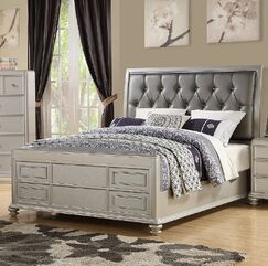 Moss Upholstered Panel Bed Size: Califonia King