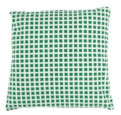 Checkered 100% Cotton Pillow Cover Color: Green