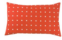 Dot 100% Cotton Pillow Cover Color: Orange