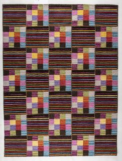 Khema 4 Hand-Woven Purple/Brown/Green Area Rug Rug Size: 5'6