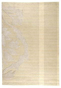 Myrick Hand-Knotted White Area Rug Rug Size: 8'3