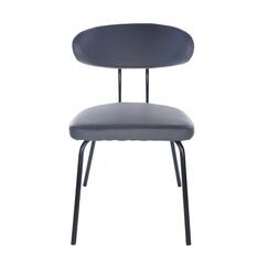 Odonnell Upholstered Dining Chair Upholstery Color: Dark Gray, Leg Color: Brushed Stainless