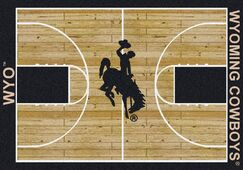 NCAA College Home Court Wyoming Novelty Rug Rug Size: Rectangle 3'10