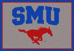 Collegiate Southern Methodist University Mustangs Mat Mat Size: Rectangle 3'10